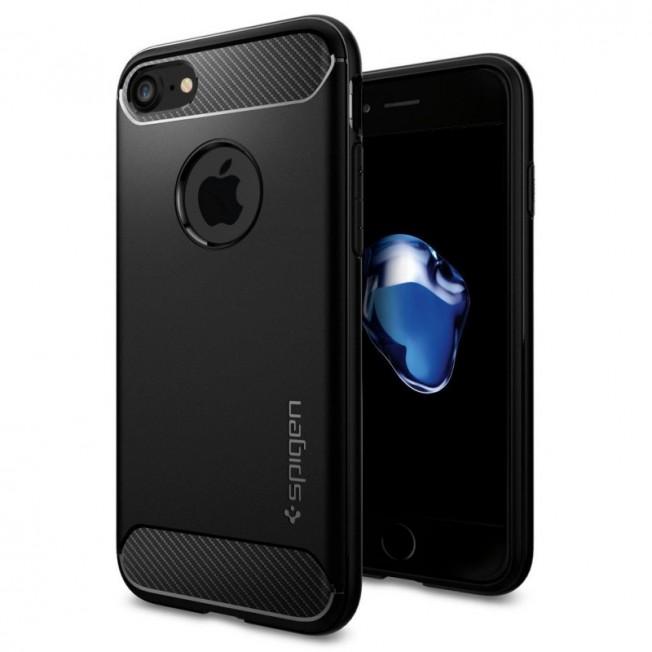 iPhone 8/7/6S/6 Coque Spigen RUGGEDARMOR Noir