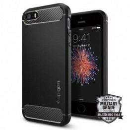 iPhone SE/5S/5 Coque Spigen RUGGEDARMOR Noir