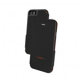 iPhone SE/5S/5 Etui Wallet Gear4 D3O OXFORD Noir