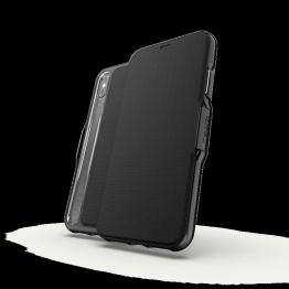 iPhone XS MAX Etui Wallet Gear4 D3O OXFORD Noir
