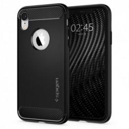 iPhone XR Coque Spigen RUGGEDARMOR Noir