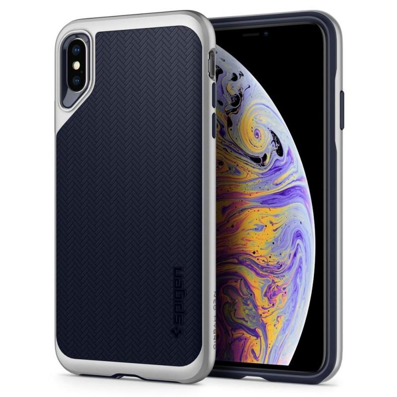 iphone xs max coque spigen neohybrid argent
