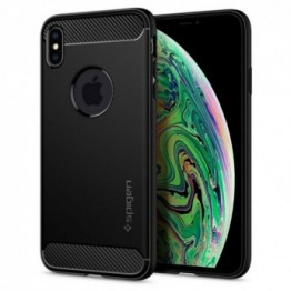 iPhone XS MAX Coque Spigen RUGGEDARMOR Noir