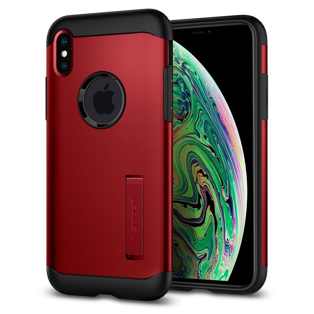 coque iphone xs max spigen rouge