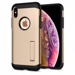 iPhone XS/X Coque Spigen SLIMARMOR Or