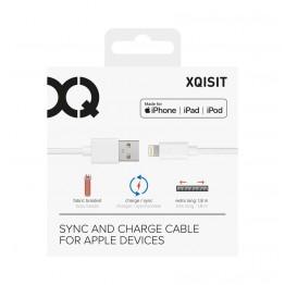 Lightning Cable Xqisit COTTON 180cm Blanc
