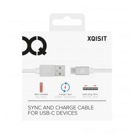 Usb-C vers Usb-A Cable Xqisit COTTON 180cm Blanc