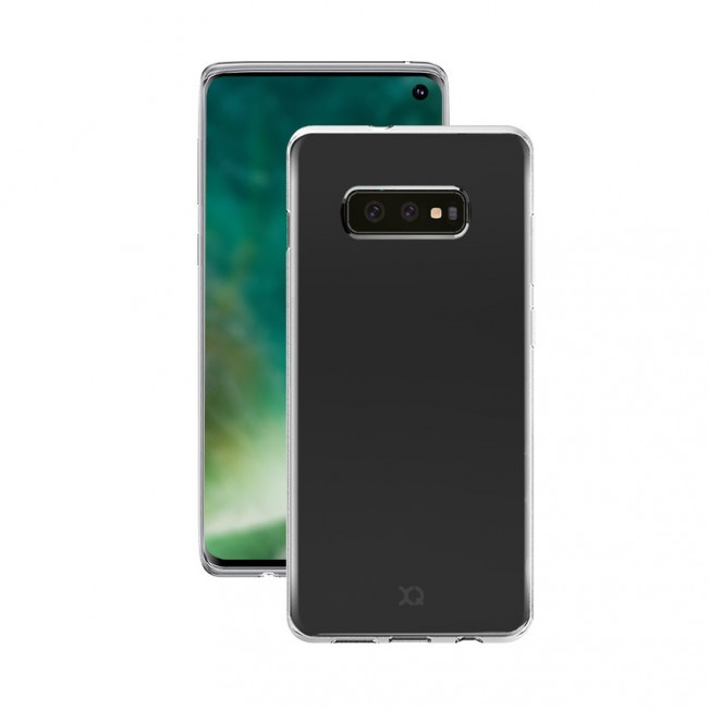 Galaxy S10E Coque Silicone Xqisit FLEXCASE Transparent