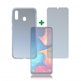 Galaxy A20E Pack 4Smarts PROTECTION360 Transparent