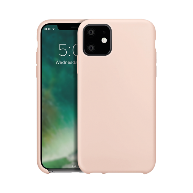 coque iphone xr silicone beige