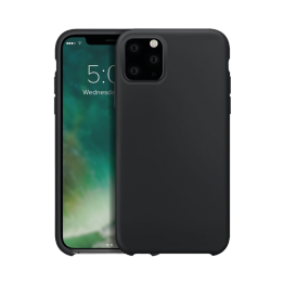 iPhone XS 2019 Coque Silicone Xqisit SILICASE Noir