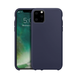 iPhone XS 2019 Coque Silicone Xqisit SILICASE Bleu