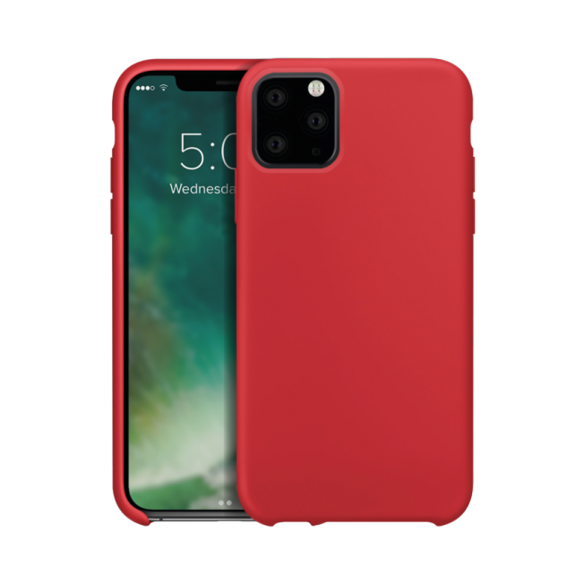 iPhone XS 2019 Coque Silicone Xqisit SILICASE Rouge