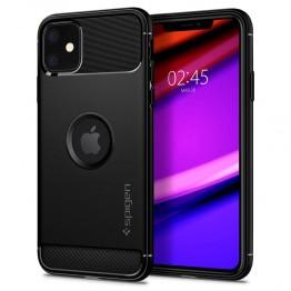 iPhone XI Coque Spigen RUGGEDARMOR Noir