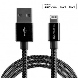Lightning Cable 4Smarts RAPICORD 100cm Noir