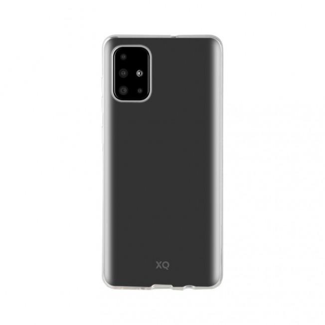 Galaxy A71 Coque Silicone Xqisit FLEXCASE Transparent