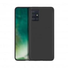 Galaxy A51 Coque Silicone Xqisit SILICASE Noir