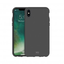 iPhone XS/X Coque Silicone Xqisit ECOCASE Gris