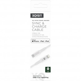 LIGHT-USBC Cable Xqisit STRONG 200cm Blanc