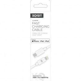 LIGHT-USBC Cable Xqisit REGULAR 150cm Blanc