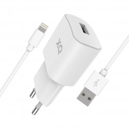 LIGHT-USBA Chargeur Home Xqisit XQPOWER 2.4A Blanc