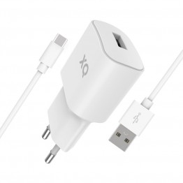 USBC-USBA Chargeur Home Xqisit XQPOWER 2.4A Blanc