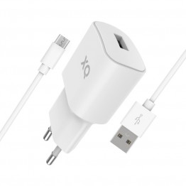 MICRO-USBA Chargeur Home Xqisit XQPOWER 2.4A Blanc