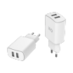 Embout Home Xqisit XQPOWER 2xUSB 4.8A Blanc