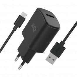 USBC-USBA Chargeur Home Xqisit XQPOWER 2.4A Noir