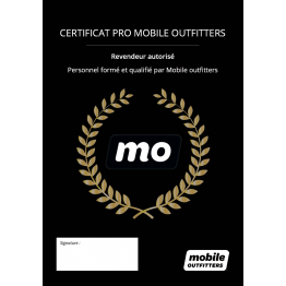 Certificat Mobile Outfitters