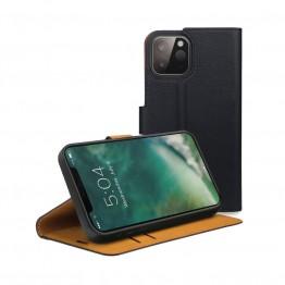 iPhone 12 MINI Etui Wallet Xqisit XQSELECTION Noir