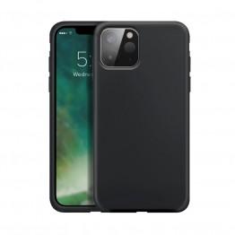 iPhone 12 MINI Coque Silicone Xqisit SILICASE Noir