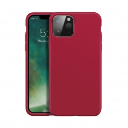 iPhone 12 MINI Coque Silicone Xqisit SILICASE Rouge