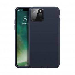 iPhone 12 MINI Coque Silicone Xqisit SILICASE Bleu
