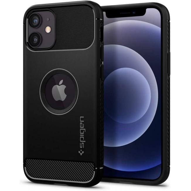 iPhone 12 MINI Coque Spigen RUGGEDARMOR Noir