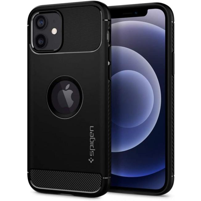 iPhone 12 / 12 PRO Coque Spigen RUGGEDARMOR Noir