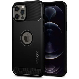 iPhone 12 PRO MAX Coque Spigen RUGGEDARMOR Noir