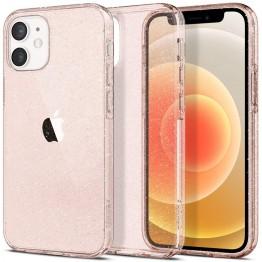 iPhone 12 MINI Coque Spigen LIQUIDCRYSTALGLITTER Transparent
