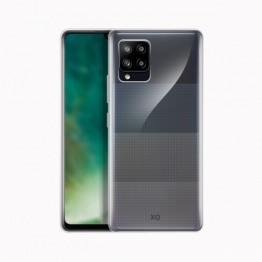 Galaxy A42 Coque Silicone Xqisit FLEXCASE Transparent