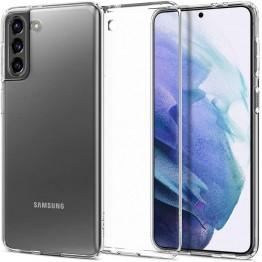 Galaxy S21 Coque Spigen LIQUIDCRYSTAL Transparent