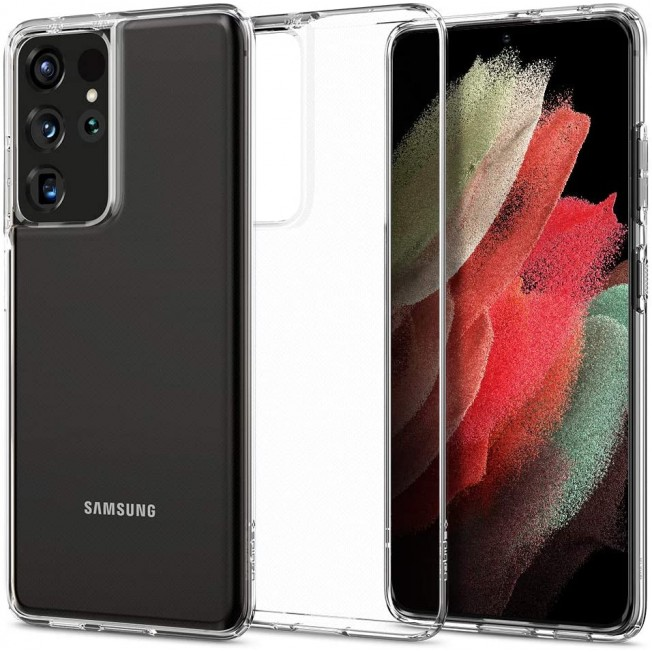Galaxy S21u Coque Spigen LIQUIDCRYSTAL Transparent