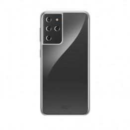 Galaxy S21u Coque Silicone Xqisit FLEXCASE Transparent