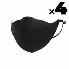 4 masques de protection Airpop LIGHT SE Noir