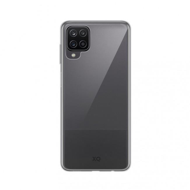 Galaxy A12 Coque Silicone Xqisit FLEXCASE Transparent