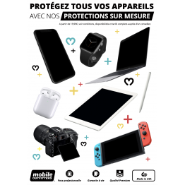Affiche A4 Mobile Outfitters FULL WHITE
